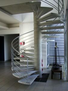 construction d'un escalier en béton