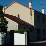 façades de cette maison isolée par l'extérieur, finition enduit