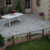 terrasse en pierre de bourgogne